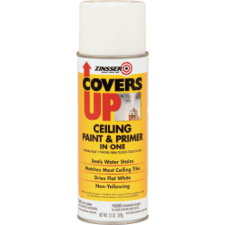Zinsser COVERS UP Ceiling Paint & Primer In One Stain Blocker Spray, 13 Oz, White