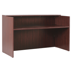"Lorell® Essentials Series Reception Desk, 72""W x 36""D, Mahogany"