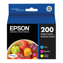 Epson® 200, (T200520) DuraBrite® Ultra Standard-Capacity Color Ink Cartridges, Pack Of 3
