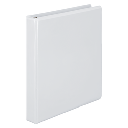 "Wilson Jones® View 3-Ring Binder With EasyLoad Rings, 1"" D-Rings, 57% Recycled, White"