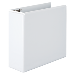 """Wilson Jones® D-Ring View Binder With EasyLoad D-Rings, 4"""" Rings, 51% Recycled, White"""