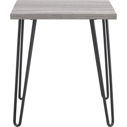 Ameriwood™ Home Owen Retro End Table, Square, Sonoma Oak/Gunmetal Gray