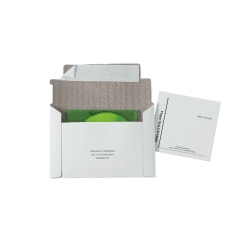 "Quality Park Foam Lined Disk/CD Mailers, 5 1/8"" x 5"", 100% Recycled, White, Box Of 25"