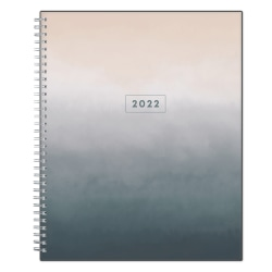 """Blue Sky™ Clear Weekly/Monthly Planner, 8-1/2"""" x 11"""", Montauk, January To December 2022, 133874"""