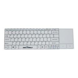 Seal Shield Clean Wipe - Keyboard - with touchpad - wireless - 2.4 GHz - US