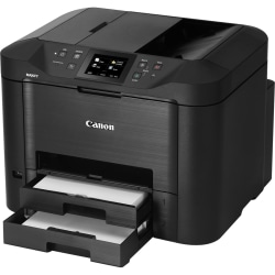 Canon MAXIFY MB5420 Inkjet Multifunction Printer - Color - Copier/Fax/Printer/Scanner - 600 x 1200 dpi Print - Automatic Duplex Print - 1200 dpi Optical Scan - 500 sheets Input - Ethernet - Wireless LAN - Mopria