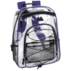 Trailmaker Water-Resistant Clear Backpack, Purple