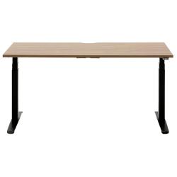 "Allermuir Slide Electric Height-Adjustable Standing Desk, 29""H x 60""W x 24""D, Walnut/Black"