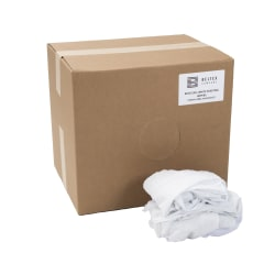 Beltex Reusable Sheeting Wipers, 40 Lb, 100% Recycled, White, Pack Of 240 Wipers