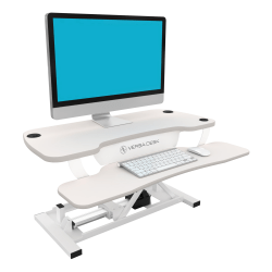 VersaDesk Power Pro Sit-To-Stand Height-Adjustable Electric Desk Riser, White