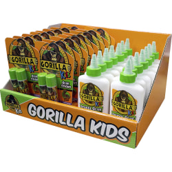 Gorilla Kids Glue Sticks/School Glue Pack - 30 / Carton - White