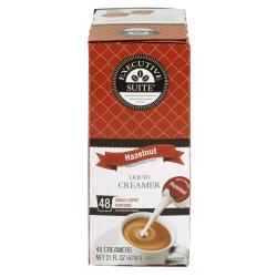 Executive Suite® Liquid Coffee Creamer, Hazelnut Flavor, 0.38 Oz Single Serve x 48