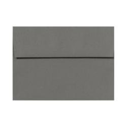 """LUX Invitation Envelopes With Peel & Press Closure, A7, 5 1/4"""" x 7 1/4"""", Smoke Gray, Pack Of 250"""