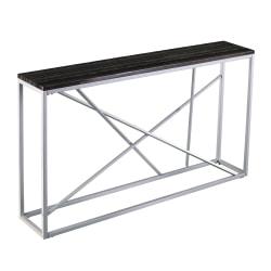 "Southern Enterprises Arendal Skinny Console Table, 29""H x 52""W x 10""D, Silver/Black"