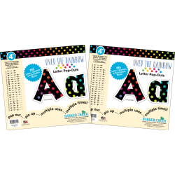 """Barker Creek Letter Pop-Outs, 4"""", Over The Rainbow, Pack Of 510"""