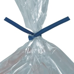 """Office Depot® Brand Paper Twist Ties For Poly Bags, 3/16"""" x 5"""", Blue, Case Of 2,000"""