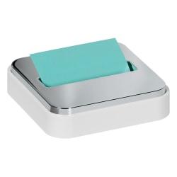 "Post-it® Notes Steel-Top Pop-Up Note Dispenser, 4-1/4""H x 4-1/4""W x 1-3/16""D, White"