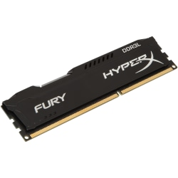 HyperX FURY - DDR3L - 4 GB - DIMM 240-pin - 1600 MHz / PC3L-12800 - CL10 - 1.35 / 1.5 V - unbuffered - non-ECC - black
