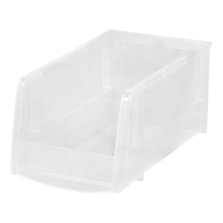 "Office Depot® Brand ""Mini"" Plastic Stacking Bin, Large Size, Clear"