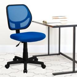 Flash Furniture Mesh Low-Back Swivel Chair, Blue/Black
