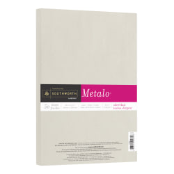 Southworth® Metalo Paper, Letter Paper Size, 32 Lb, Silver Dust, Pack Of 50 Sheets