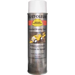 Rust-Oleum High-Performance Striping Spray Paint, 18 Oz, White