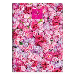 "TF Publishing Medium Monthly Planner, 7-1/2"" x 10-1/4"", Pink Peony Party, January To December 2021"