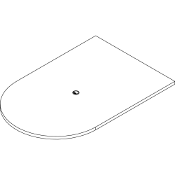 "Lorell Prominence 2.0 Half-Racetrack Conference Tabletop - Mahogany Racetrack, Laminated Top - 72"" Table Top Width x 48"" Table Top Depth x 1.50"" Table Top Thickness - Assembly Required"
