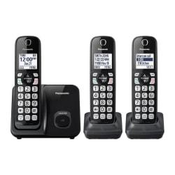 Panasonic® DECT 6.0 Cordless Telephone, 3 Handsets, KX-TGD513B