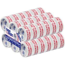 "Tape Logic® Do Not Break Stretch Wrap Preprinted Carton Sealing Tape, 3"" Core, 2"" x 55 Yd., Red/White, Pack Of 36"
