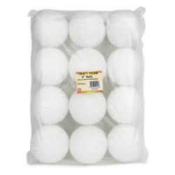 """Hygloss Styrofoam™ Balls, 4"""", White, Pack Of 12"""