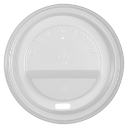 Genuine Joe Ripple Hot Cup Protective Lids, 10 - 16 Oz, White, Pack Of 50