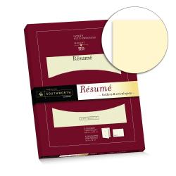 """Southworth® Résumé Folders & Envelopes, 9"""" x 12"""", 88-Lb, Ivory, Pack Of 5"""