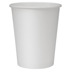 Genuine Joe Polyurethane-Lined Disposable Hot Cups, Single, 8 Oz, White, Pack Of 1000