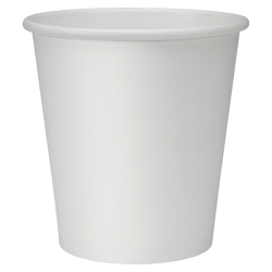 Genuine Joe Polyurethane-Lined Disposable Hot Cups, Single, 10 Oz, White, Pack Of 1000