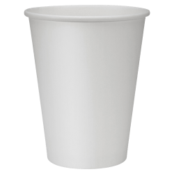 Genuine Joe Polyurethane-Lined Disposable Hot Cups, Single, 12 Oz, White, Pack Of 50