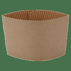 Genuine Joe Corrugated Hot Cup Sleeves, Brown, Carton Of 1,000