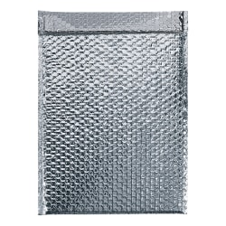 "Office Depot® Brand Cool Shield Bubble Mailers, 10-1/2""H x 12-3/4""W x 3/16""D, Silver, Case Of 50 Mailers"