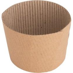 Genuine Joe Corrugated Hot Cup Sleeves, Brown, Pack Of 50