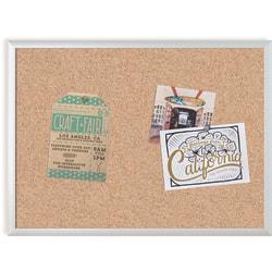"U Brands Cork Bulletin Board, 23"" x 17"", Aluminum Frame With Silver Finish"