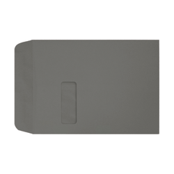 """LUX Open-End Window Envelopes With Moisture Closure, #9 1/2, 9"""" x 12"""", Smoke, Pack Of 500"""