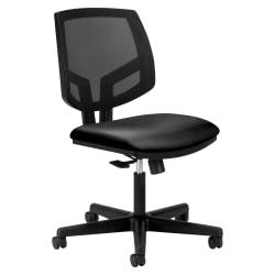 HON® Volt Mesh Bonded Leather Mid-Back Task Chair, Black