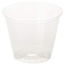 Dixie® Squat Plastic Cold Cups, 9 Oz, Clear, Carton Of 500 Cups