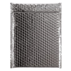 """Partners Brand Silver Glamour Bubble Mailers 9"""" x 11 1/2"""", Pack of 100"""