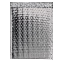 """Partners Brand Silver Glamour Bubble Mailers 13"""" x 17 1/2"""", Pack of 100"""