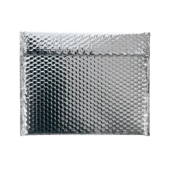 """Partners Brand Silver Glamour Bubble Mailers 13 3/4"""" x 11"""", Pack of 48"""