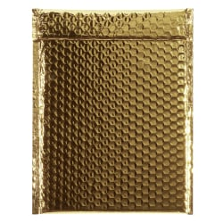 "Partners Brand Gold Glamour Bubble Mailers 9"" x 11 1/2"", Pack of 100"