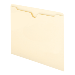 """Smead® Manila File Jackets, Reinforced Tab, 9 1/2"""" x 11 3/4"""", Pack Of 100"""
