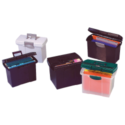 "Pendaflex® SpaceMaker™ Compact Portable Storage File, 11 3/8"" x 15"" x 7 7/8"", Granite"