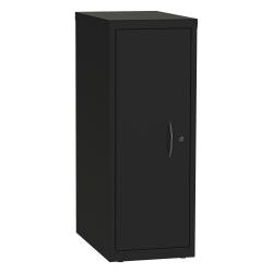 Lorell® Kingsley Open Desking 1-Shelf Steel Single Tower, Black